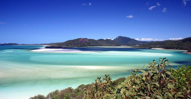Whitehaven Beach en Australie, une des plus belles plages au monde
